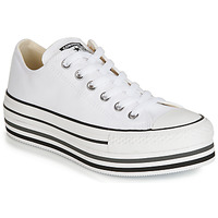 Skor Dam Sneakers Converse CHUCK TAYLOR ALL STAR PLATFORM EVA LAYER CANVAS OX Vit