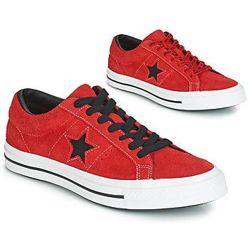 Skor Sneakers Converse ONE STAR DARK STAR VINTAGE SUEDE OX Röd