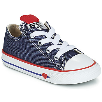 Skor Flickor Sneakers Converse CHUCK TAYLOR ALL STAR SUCKER FOR LOVE DENIM OX Blå