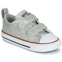 Skor Flickor Sneakers Converse CHUCK TAYLOR ALL STAR 2V SPARKLE SYNTHETIC OX Grå