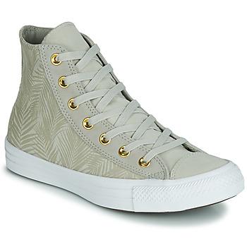 Skor Dam Höga sneakers Converse CHUCK TAYLOR ALL STAR SUMMER PALMS HI Grön