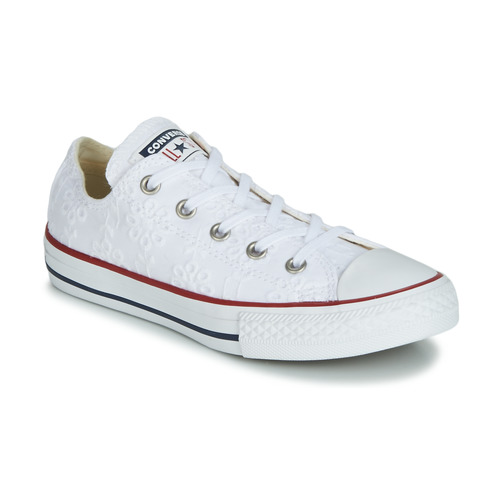 Skor Flickor Sneakers Converse CHUCK TAYLOR ALL STAR BROADERIE ANGLIAS OX Vit