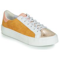 Skor Dam Sneakers No Name ARCADE Vit / Guldfärgad / Gul