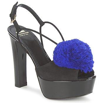 Skor Dam Sandaler Moschino Cheap & CHIC CA1608 Svart / blå