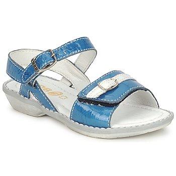 Skor Flick Sandaler GBB CARAIBES FIZZ Blå / Vit