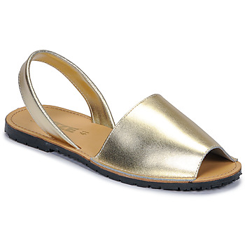 Skor Dam Sandaler So Size LOJA Guldfärgad