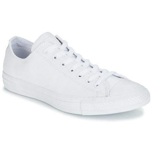 Skor Sneakers Converse ALL STAR MONOCHROME CUIR OX Vit