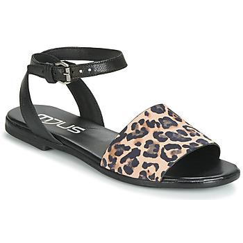 Skor Dam Sandaler Mjus CHAT LEO Svart / Leopard