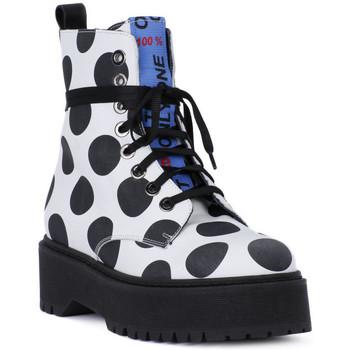 Skor Herr Boots At Go GO  BIG POIS NERO Bianco
