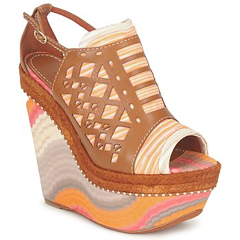 Skor Dam Sandaler Missoni TM22 Brun / Orange