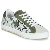 Skor Dam Sneakers Mustang 2874302-277 Kaki / Vit