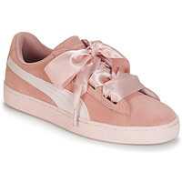 Skor Flickor Sneakers Puma JR SUEDE HEART JEWEL.PEACH Rosa