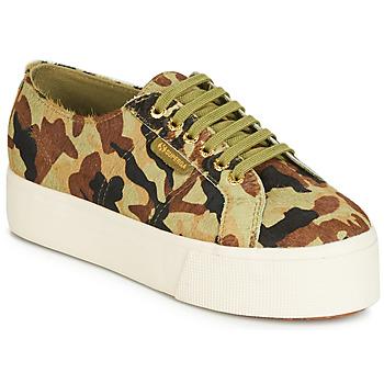 Skor Dam Sneakers Superga 2790 LEAHORSE Kamouflage