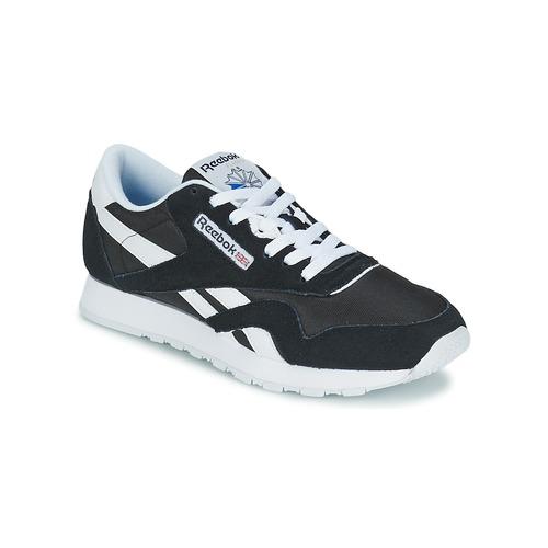 Skor Sneakers Reebok Classic CL NYLON Svart / Vit