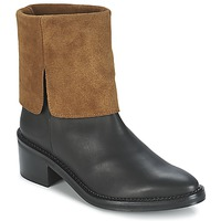 Skor Dam Boots Miista KAMILA Svart / Brun