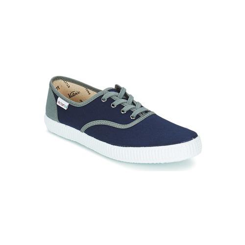 Skor Sneakers Victoria INGLESA LONA DETALL CONTRAS Marin