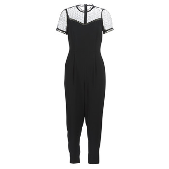 textil Dam Uniform MICHAEL Michael Kors LACE YOKE JUMPSUIT Svart
