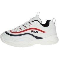 Skor Dam Sneakers Fila Ray Low Wmn Vit, Svarta, Röda