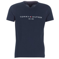 textil Herr T-shirts Tommy Hilfiger TOMMY FLAG HILFIGER TEE Marin