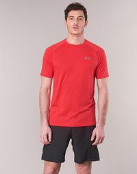 textil Herr T-shirts Under Armour TECH 2.0 SS TEE Röd
