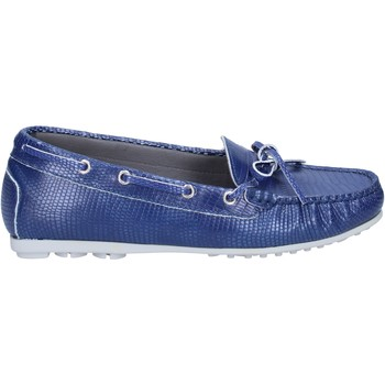 Skor Dam Loafers K852 & Son mocassini blu pelle BT933 Blu