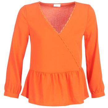 textil Dam Blusar Vila VIROSSIE Orange