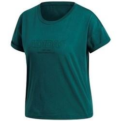 textil Dam T-shirts adidas Originals Ess Allcap Tee Gröna