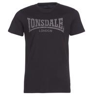 textil Herr T-shirts Lonsdale LOGO KAI Svart