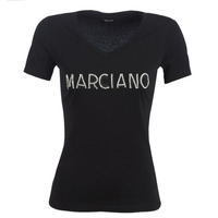 textil Dam T-shirts Marciano LOGO PATCH CRYSTAL Svart