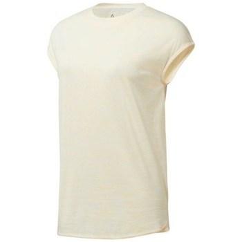 textil Dam T-shirts Reebok Sport EL Marble Tee Beige
