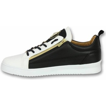 Skor Herr Sneakers Cash Money Låga Herrskor Herrskor Bee Black White Gold Svart, Vit