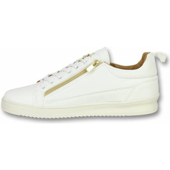 Skor Herr Sneakers Cash Money Skomode Fina Skor Bee White Gold Vit