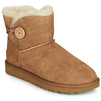 Skor Dam Boots UGG MINI BAILEY BUTTON II Kamel