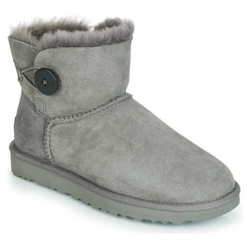 Skor Dam Boots UGG MINI BAILEY BUTTON II Grå