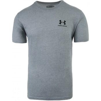 textil Herr T-shirts Under Armour Sportstyle Left Chest Gråa