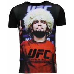 textil Herr T-shirts Local Fanatic UFC Campion Khabib Nurmagoov Z Svart