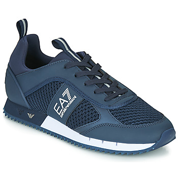 Skor Herr Sneakers Emporio Armani EA7 BLACK&WHITE LACES U Blå