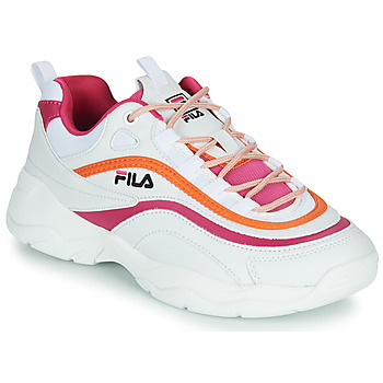 Skor Dam Sneakers Fila RAY CB LOW WMN Vit / Rosa / Orange