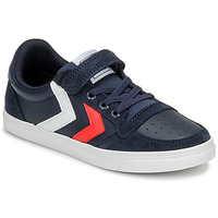 Skor Barn Sneakers Hummel SLIMMER STADIL LEATHER LOW JR Blå