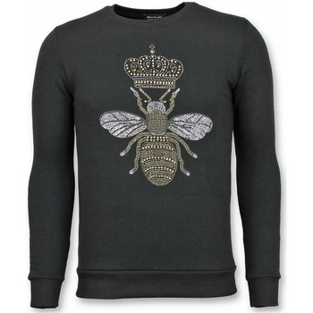 textil Herr Sweatshirts Tony Backer Rhinestone Master Bee UPZSZ Svart