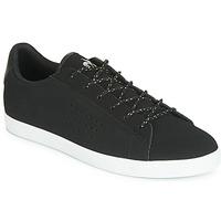 Skor Dam Sneakers Le Coq Sportif AGATE NUBUCK Svart / Silverfärgad