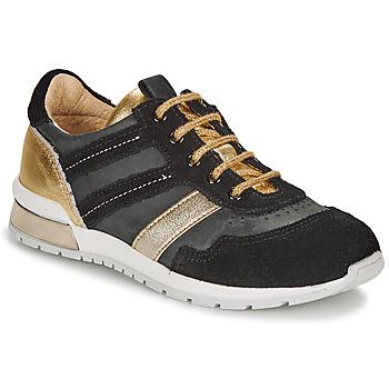 Skor Flickor Sneakers Catimini CAMELINE Svart / Guldfärgad