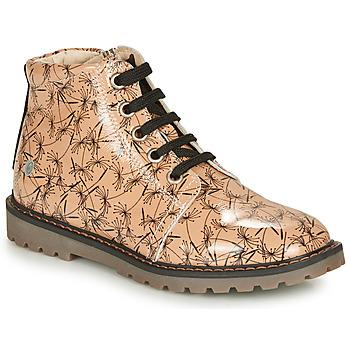 Skor Flickor Boots GBB NAREA Rosa / Svart