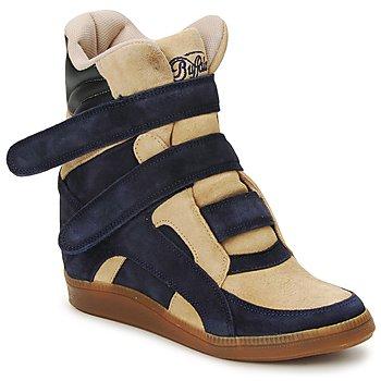 Skor Dam Höga sneakers Buffalo GINGERWA Marin / Beige