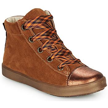 Skor Flickor Höga sneakers GBB OUSTILLE Cognac