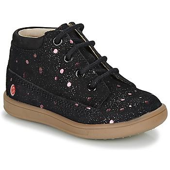 Skor Flickor Boots GBB NINON Svart / Rosa