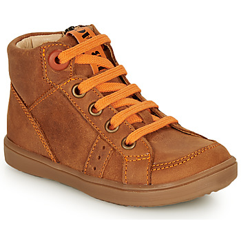 Skor Pojkar Höga sneakers GBB ANGELITO Cognac / Orange