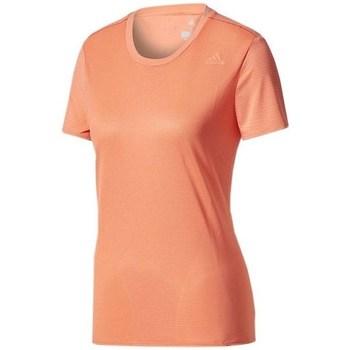 textil Dam T-shirts adidas Originals SN SS Tee W Orange