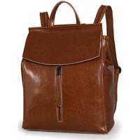 Väskor Dam Ryggsäckar Ienjoy Brun ryggsäcken i äkta koskinn Brun