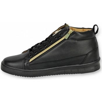 Skor Herr Höga sneakers Cash Money Herrskor Dressade Skor Bee Black Gold Svart